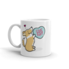 Corgi Candy Heart Mug - Red and White with Tail