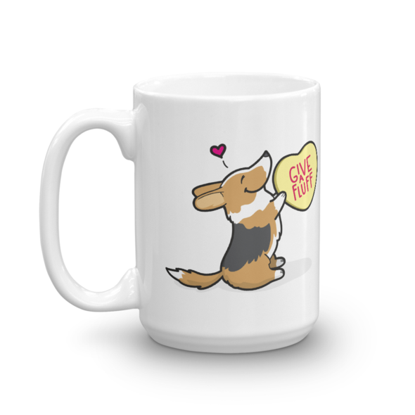 Cardigan Corgi Candy Heart Mug - Tri-Color