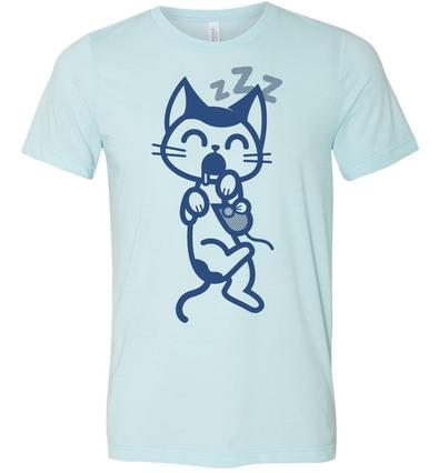 Cat Nap Tee - Blue