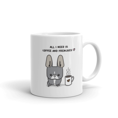 Coffee and Frenchies Mug - Blue Pied 3