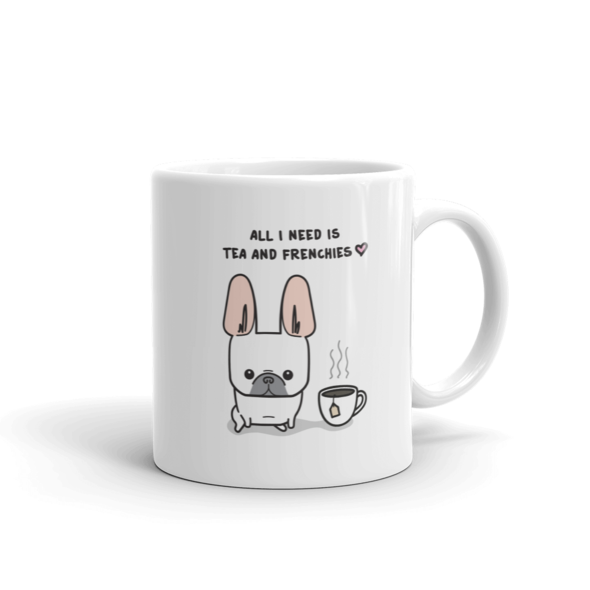 Tea and Frenchies Mug - Cream 1