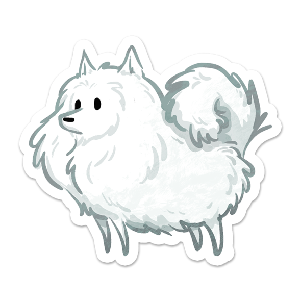 Eskie Floof Sticker