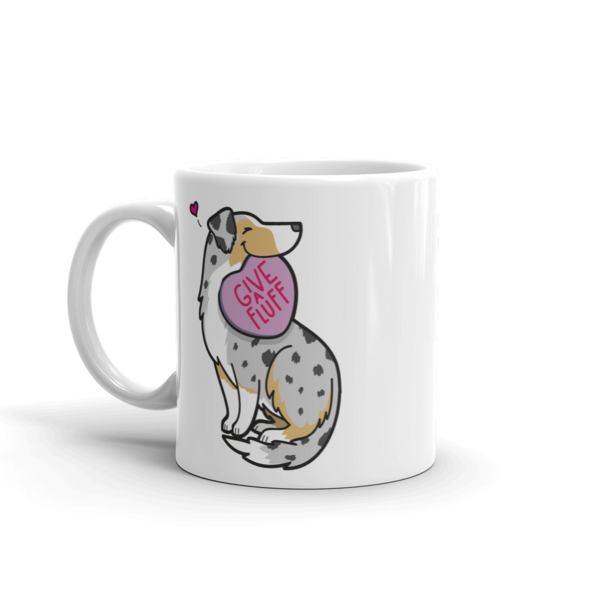 Intl - Aussie Candy Heart Mug - Tan Point Blue Merle with Tail