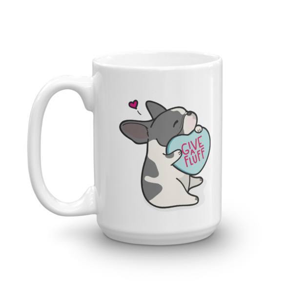 Frenchie Candy Heart Mug - Blue Pied